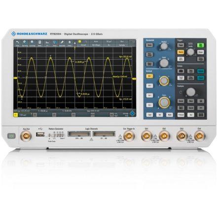 Rohde & Schwarz RTB2K-COM4 digitális tároló oszcilloszkóp, logikai analizátor, függvénygenerátor